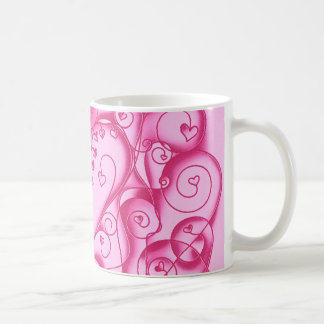 Heart Vine Pink Coffee Mug