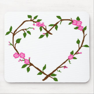 Heart vines mouse pad