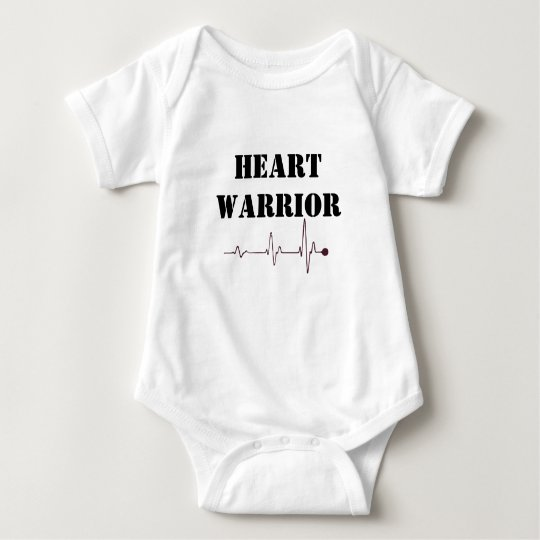 heart warrior baby bodysuit