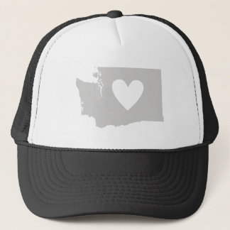 Heart Washington state silhouette Trucker Hat