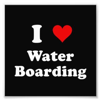 Heart Water Boarding Photo Print