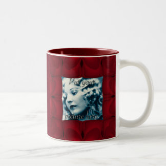 Heart Wave Frame Two-Tone Mug
