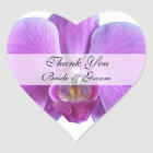 Heart Wedding Thank You Stickers --  Orchid