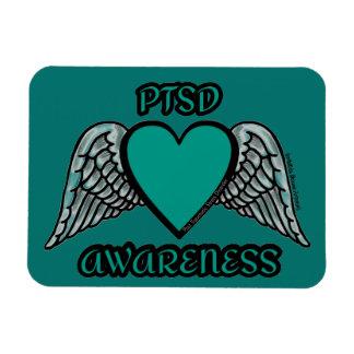 Heart/Wings...PTSD Rectangular Photo Magnet