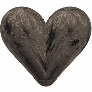 heart winter clematis photo sculpture badge