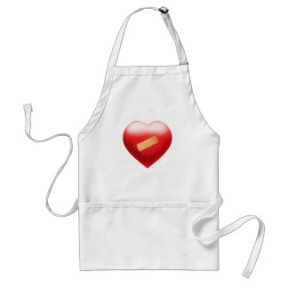 Heart with BandAid Standard Apron