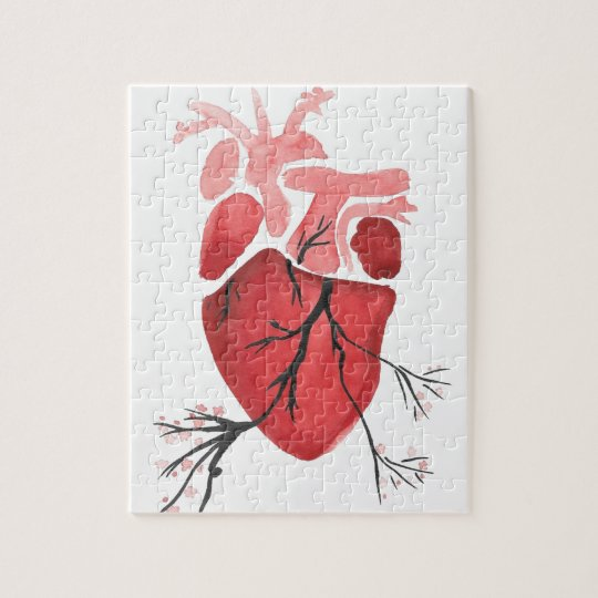Heart With Branches Jigsaw Puzzle