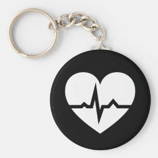 Heart with ECG wave cardiologist or cardiac nurse Key Chains