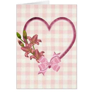 Heart with Floral Arrangement Card