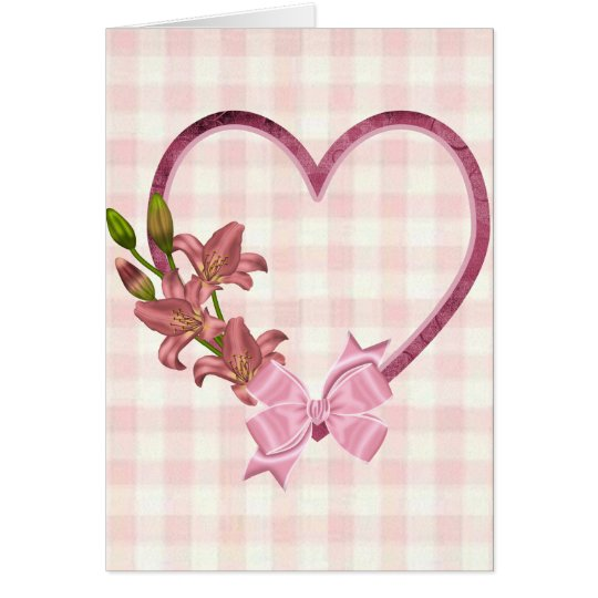 Heart with Floral Arrangement Card