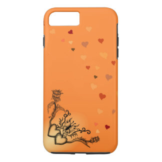 Heart with Flower and Butterfly iPhone 7 Plus Case