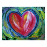 Heart with Hope Painting Art Poster Prints