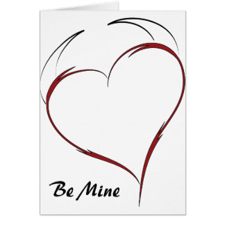 Heart with Horns Greeting Card