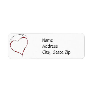 Heart with Horns Return Address Label