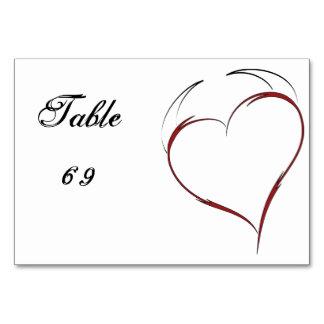 Heart with Horns Table Card