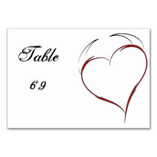 Heart with Horns Table Cards