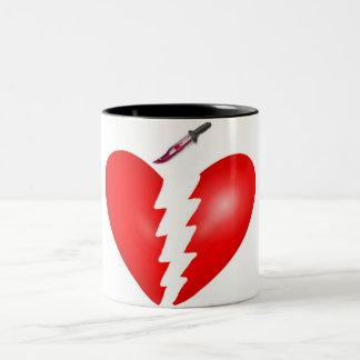 Heart With Knife Two-Tone Mug