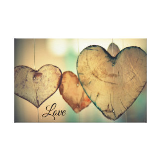Heart with Love Canvas Print