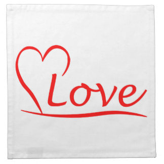 Heart with love napkin