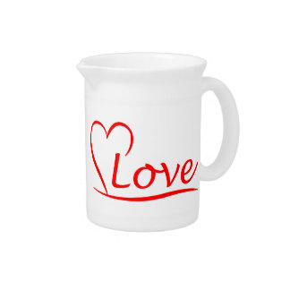 Heart with love pitcher