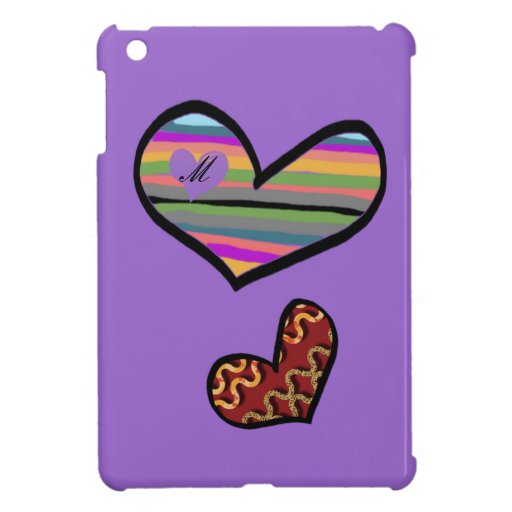 heart with multicolored touch filled iPad mini cases