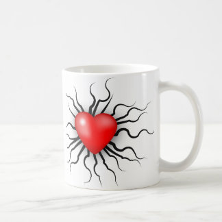 Heart with roots mug