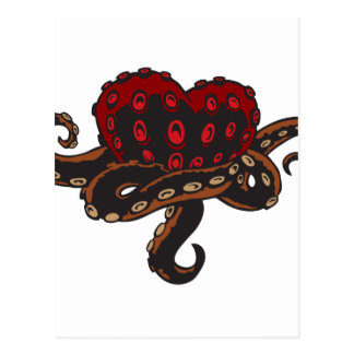 Heart with Tentacles Postcard