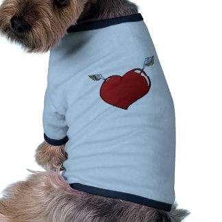 Heart with Wings Ringer Dog Shirt