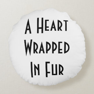 Heart Wrapped In Fur - Briard Pillow