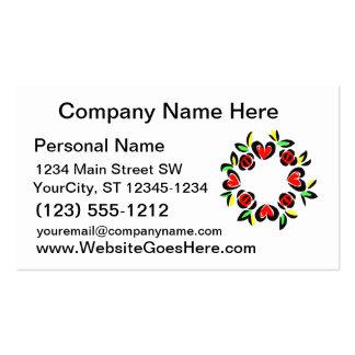 heart wreath love design business cards