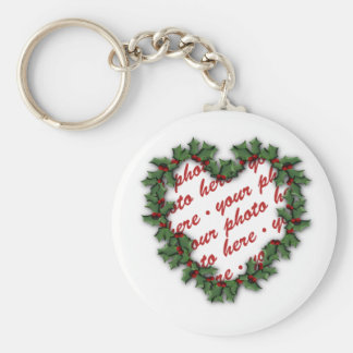 Heart Wreath  Photo Frame Key Chains