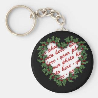 Heart Wreath Photo Frame Keychains