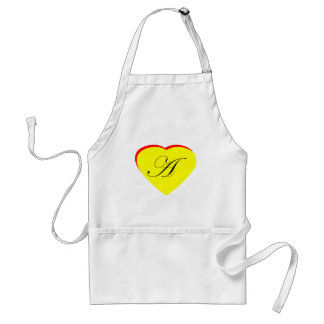 Heart Yellow Red A Wedding Invitation The MUSEUM Z Aprons