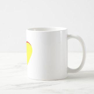 Heart Yellow Red Wedding Invitation The MUSEUM Zaz Basic White Mug