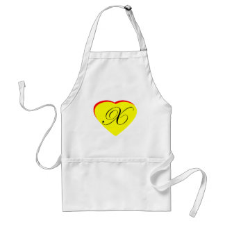 Heart Yellow Red X Wedding Invitation The MUSEUM Z Aprons