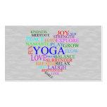 Heart Yoga Business Card for Yoga Teacher
