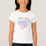 Heart Yoga T-Shirt - Yoga Gift for Girls