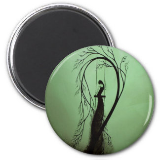 Heartache and Poetry 14... 6 Cm Round Magnet