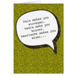 Heartache and Vodka Funny Greeting Card