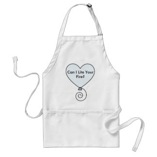 heartballoonclear, Can I Lite Your Fire? Standard Apron