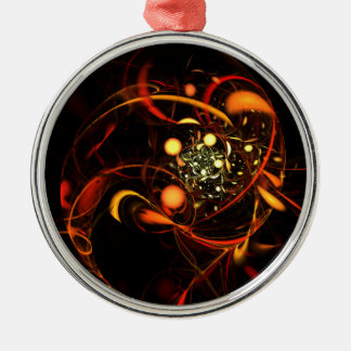 Heartbeat Abstract Art Round Christmas Ornament