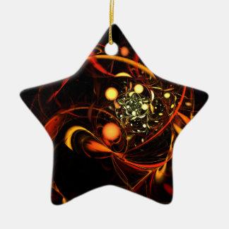 Heartbeat Abstract Art Star Ornament