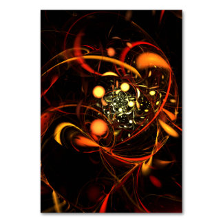 Heartbeat Abstract Art Table Card