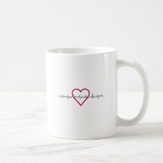 Heartbeat Basic White Mug