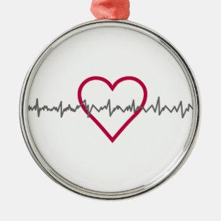 Heartbeat Christmas Ornament