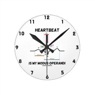 Heartbeat Is My Modus Operandi (Electrocardiogram) Clocks