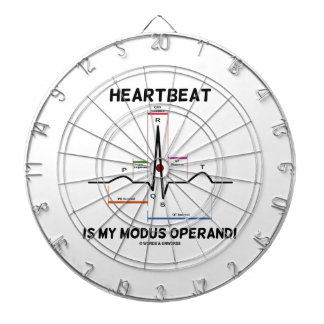 Heartbeat Is My Modus Operandi Electrocardiogram Dart Boards