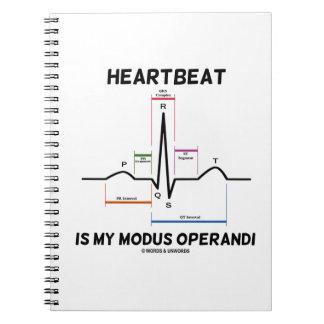 Heartbeat Is My Modus Operandi (Electrocardiogram) Note Books
