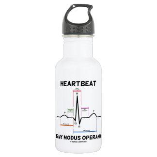 Heartbeat Is My Modus Operandi (Electrocardiogram) 532 Ml Water Bottle