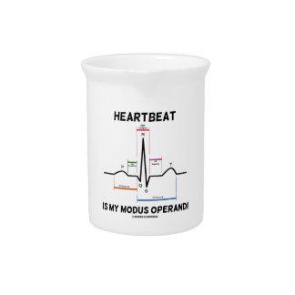 Heartbeat Is My Modus Operandi (Electrocardiogram) Pitcher